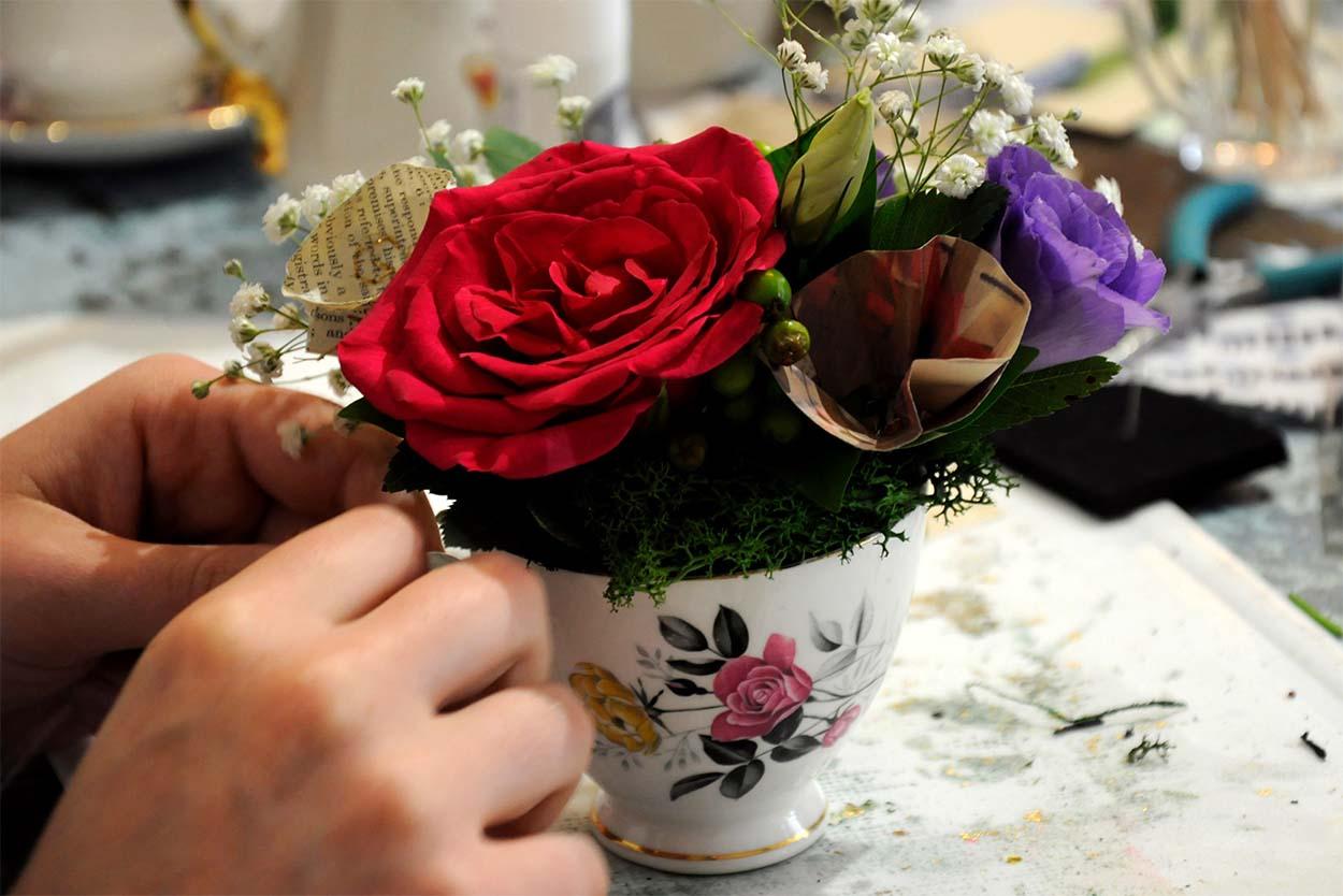 Debbie Bryan Vintage Floral Arrangement