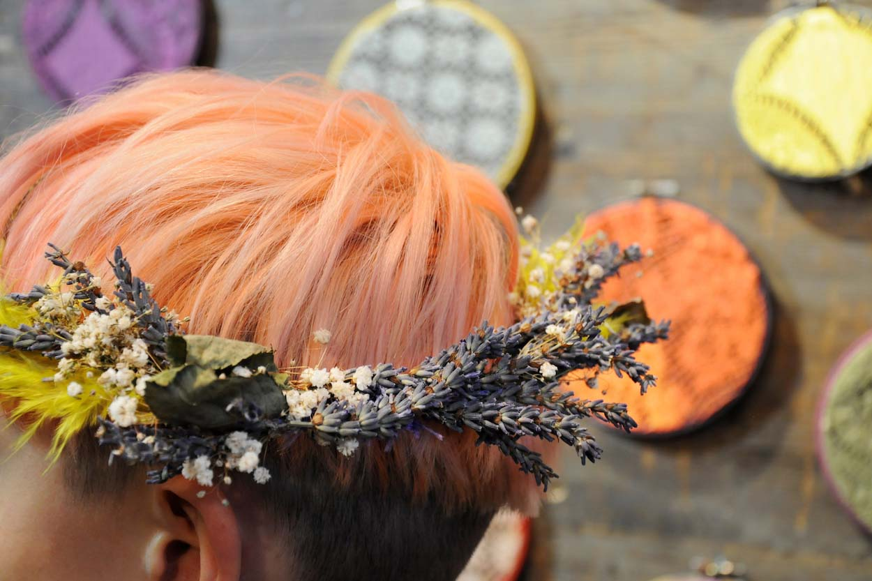 FLORAL HEADDRESS, £38