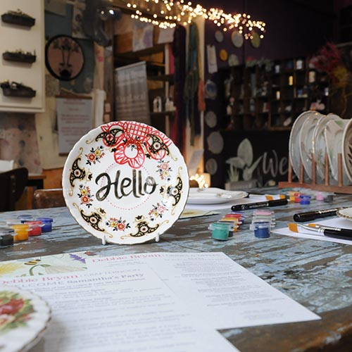 Ceramic Painting Crafternoon Debbie Bryan