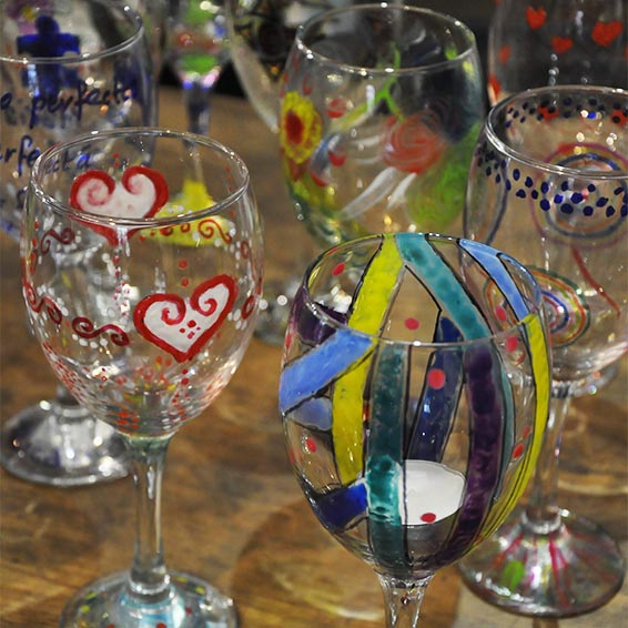 Debbie Bryan Glass Painting Crafternoon