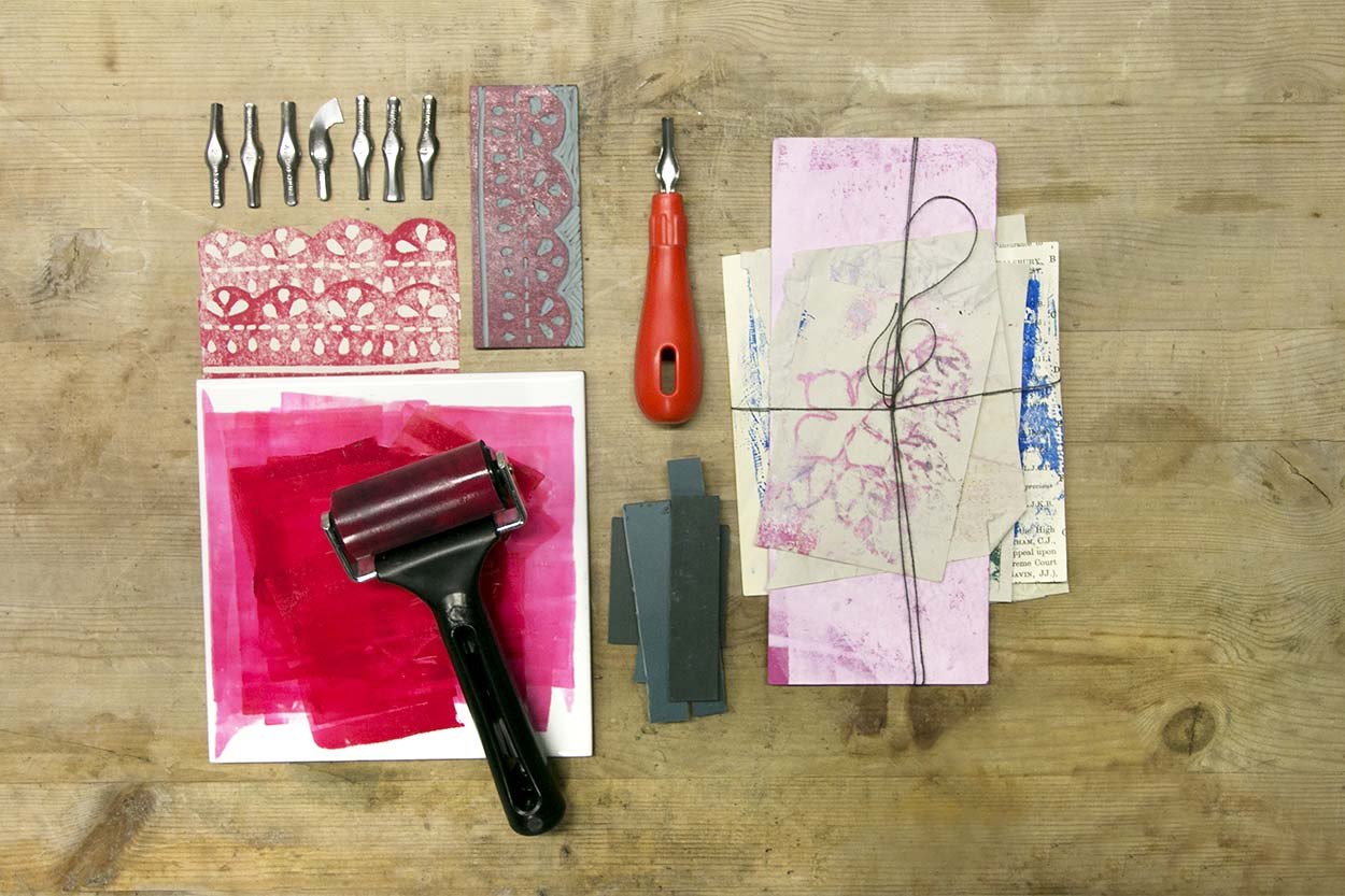 LINOCUT & MIXED MEDIA PRINTMAKING, FROM £30