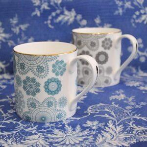 Debbie Bryan Nottingham Lace Ceramic Mug