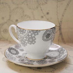 Debbie Bryan Nottingham Lace Teacup and Saucer