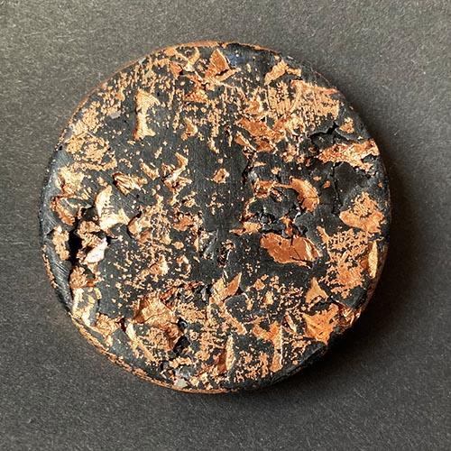 Debbie Bryan Gilded Jesmonite Brooch Bronze