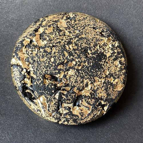 Debbie Bryan Gilded Jesmonite Brooch Gold