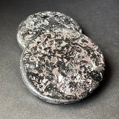 Debbie Bryan Gilded Jesmonite Brooch Silver