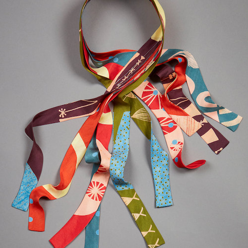 Fiona McIntosh Silk Habotai Ribbony Scarf