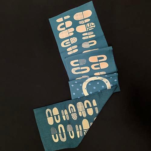 Fiona McIntosh Wool Delaine Scarf Lozenge Print