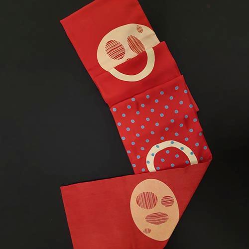 Fiona McIntosh Wool Delaine Scarf Sphere Print