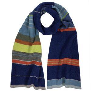 Katie mawson Multi-stripe Lambs Wool Scarf