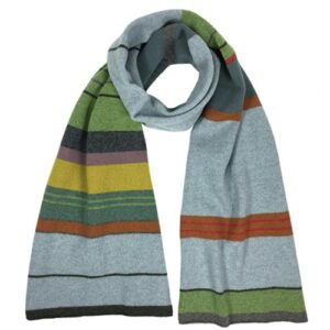Katie Mawson Multi-stripe Lambs Wool Scarf
