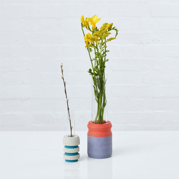 Laura-Jane Atkinson PIEN Batch Stem Vase and LIO Single Stem Vase