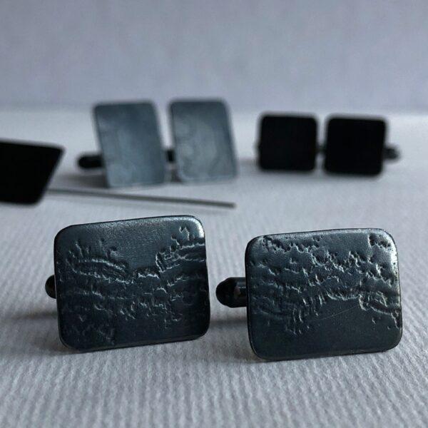 Melissa Montague oxidised cufflinks