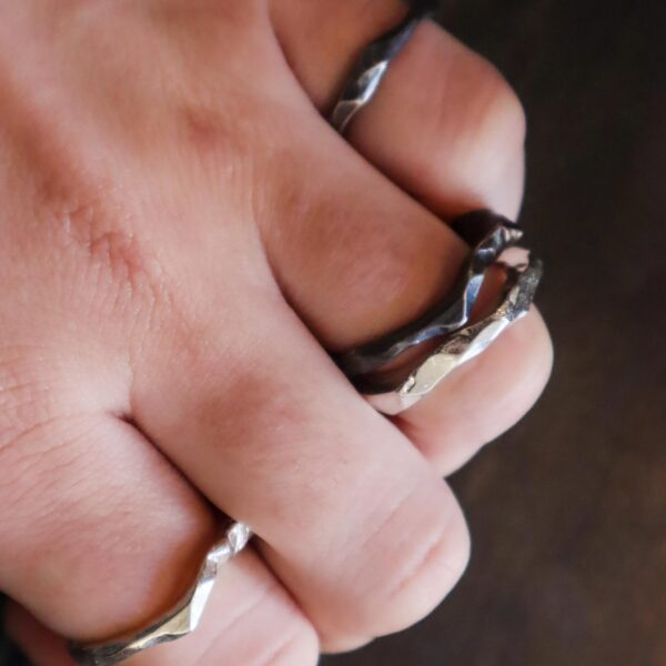 Make a Silver Ring, hand model, ring on hand